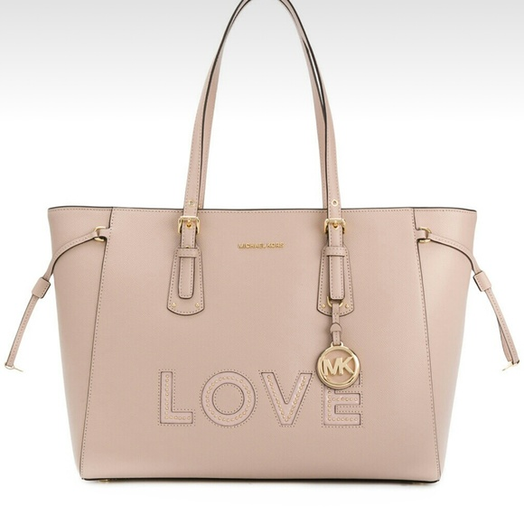 a0921bb153a86 Michael Kors Love Voyager Tote Soft Pink